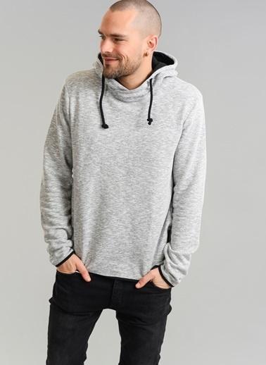 People By Fabrika Kapüşonlu Sweatshirt Gri